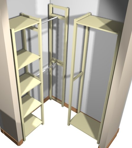 solid unfinished wood simple closet system l shaped for 44