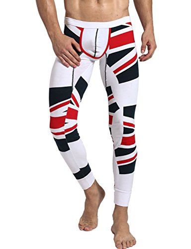 Neleus Men's Thermal Long John Underwear White,71# Black,US Large,Asia Tag XXL (Mens Spandex Thermal Underwear compare prices)
