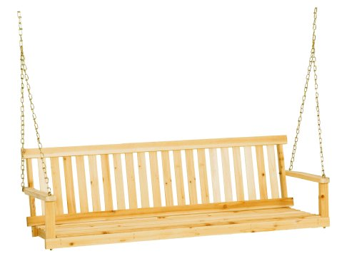 Jack Post Jennings Traditional 5-Foot Swing Seat in Unfinished Solid Fir with Hang Chain