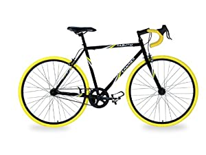 Takara Kabuto Single Speed Road Bike, 700c, Black/Yellow