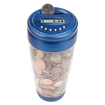 Totes Men's Auto Coin Jar, Blue, One Size