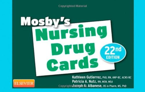 Mosby'S Nursing Drug Cards, 22E