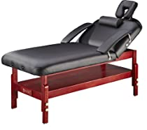 Big Sale Master Massage Montclair Stationary Massage Table Pro, Black, 31 Inches X 72 Inches X 24 to 34 Inches
