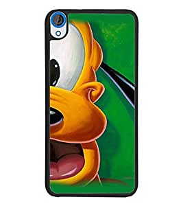 PrintDhaba Goofy D-2397 Back Case Cover for HTC DESIRE 820 (Multi-Coloured)