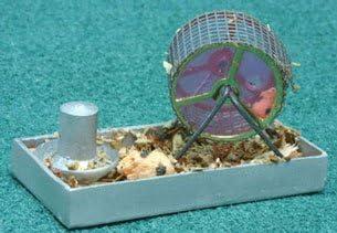Dollhouse Hamster On Wheel
