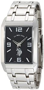 U.S. Polo Assn. Classic Men's USC80003 Rectangular Black Dial Bracelet Watch