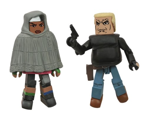 The Walking Dead Minimates: Series 4 Hooded Michonne and Gabe Action Figure 2-Pack