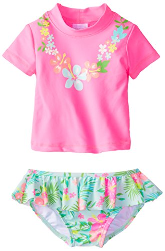 Iplay baby infant and toddler rash guard shirts are unisex for baby boys or baby girls. Sun protection shirts are available for little kids newborn - 4 toddler. Rash guard tops are long.