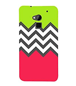 Zig Zag Pattern 3D Hard Polycarbonate Designer Back Case Cover for HTC One Max