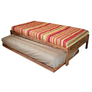 Santa Cruz Twin Bed and Trundle (Toasted Pecan)
