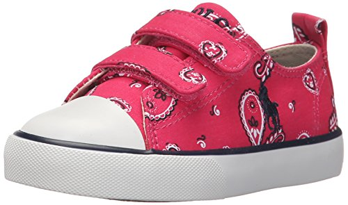 Polo Ralph Lauren Kids Harbor Low EZ Fashion Sneaker (Toddler), Ultra Pink Bandana/Navy, 6 M US Toddler