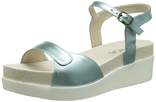 ESSKANeo - Sandali Donna , Verde (Vert (Mint/Metallic)), 39