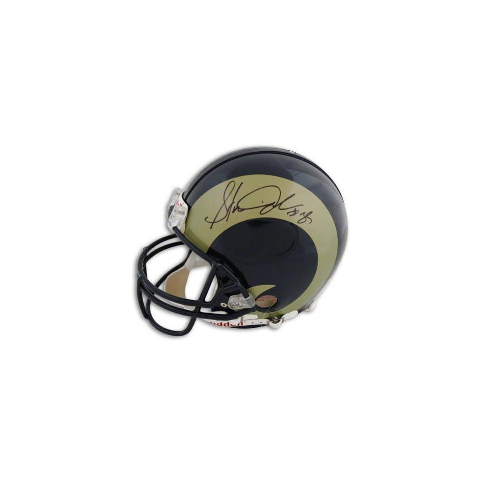 Steven Jackson Autographed Pro Line Helmet  Details St. Louis Rams, Authentic Riddell Helmet