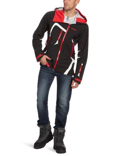 Bergans Herren Skijacke Isogaisa, black/white/red, S, 1300,