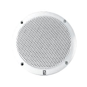 "The Amazing Quality Polyplanar 4"" 2-Way Coax Integral Grill Marine Speaker - (Pair) White"