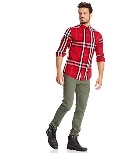 Desigual Camisa Hombre Javito Rep Fresa