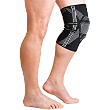 AidBrace Knee Brace Support Sleeve With Patella Support And Side Stabilizers For Meniscus Tear, ACL & LCL Injury...