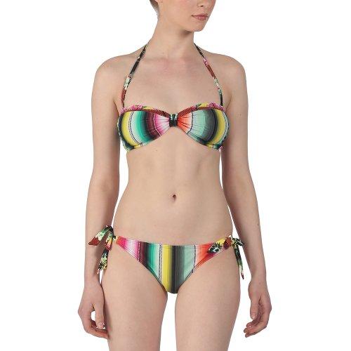 """Bench - Bikini da donna """"Kite Piece Out"""", Multicolore (fiamma), XS"""