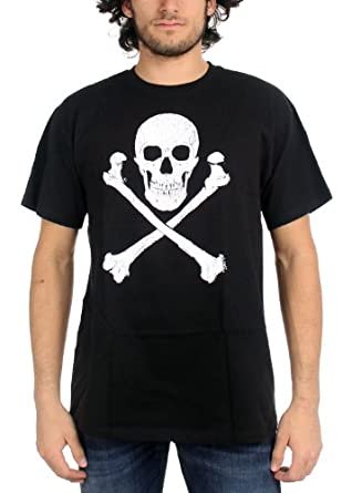 Price Busters - Distressed Skull & Crossbones Adult T-Shirt, X-Large, Black