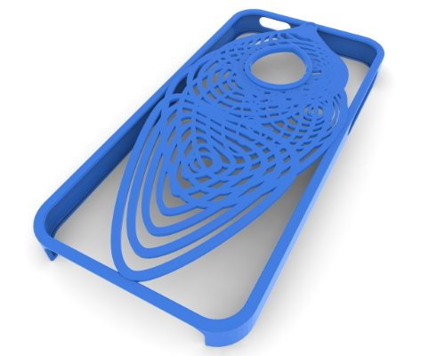 3D Printed Cocoon iPhone 5 Case, Blue