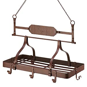 Rustic Western Country Cow Hanging Kitchen Pot Rack