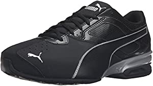 PUMA Men's Tazon 6 FM Cross-Trainer Shoe, Puma Black/ Puma Silver, 11 M US