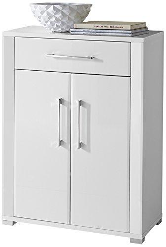 Paul OGWW153011 Schuhschrank, circa 74 x 100 x 40 cm, weiß Nachbildung glänzend, Front hochglanz