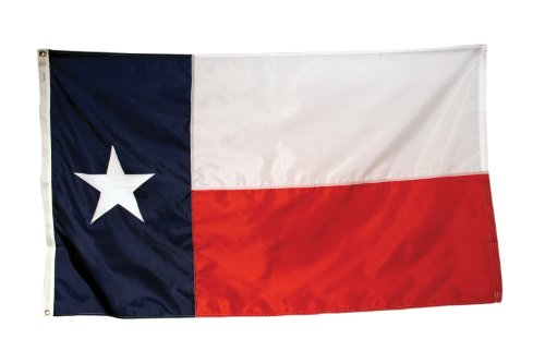 America's Flag Company SF5X8NOTX1 5-Foot by 8-Foot Nylon Texas State Flag with Appliqued Star and Sewn Components