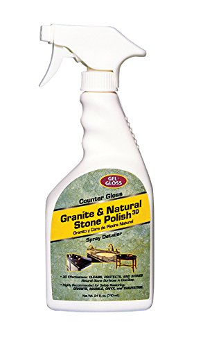 Gel-Gloss, CG-24, Counter Gloss Granite and All Natural Stone Surface Cleaner and Polish - Cleans, Seals and Shines In Easy One Step Process, 24 Fluid Ounces (Stone Sealing compare prices)