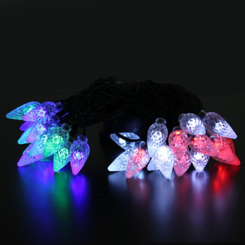 Solar 30 Led Outdoor Garden Corn Shaped Romantic Holiday Atmosphere String Light Party Lamp Decor