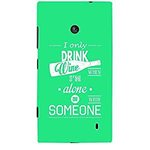 Skin4gadgets Awesome Wine & Dine Quotes, Pattern 29, Color - Orange Phone Skin for LUMIA 525