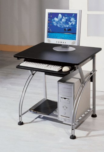 Small Computer Desk With Black Finish