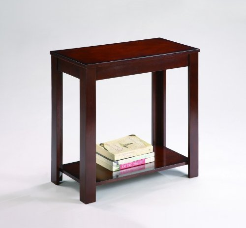 Pierce Espresso Chairside Table Small Storage End Table