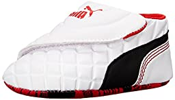PUMA Drift Cat 6 LW Crib Shoe (Infant/Toddler) , White/Black/High Risk Red, 3 M US Infant