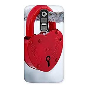 Impressive Red Lock Multicolor Back Case Cover for LG G2