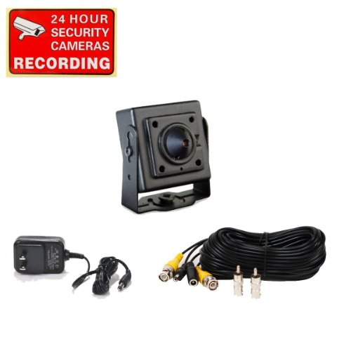 Videosecu Mini Pinhole Ccd Security Camera Indoor Hidden Surveillance Kit With Camera Power Supply And Camera Extension Cable A72 front-62114