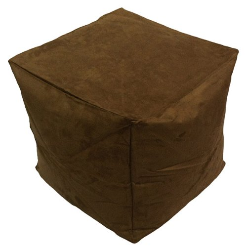 Linens Limited Faux Suede Bean Cube, Chocolate