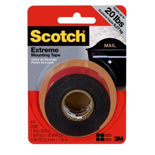 "Scotch Extreme Mounting Tape 1""X60"" (20 Lbs)"