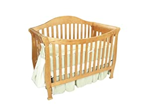 4 In 1 Amy Aspen Solid Wood Pecan Baby Crib Nursery Furniture Sets