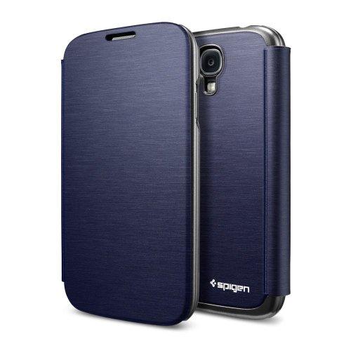 国内正規品SPIGEN SGP Galaxy S4 ケース ウルトラ フリップ [メタリック・ネイビー]SGP10271