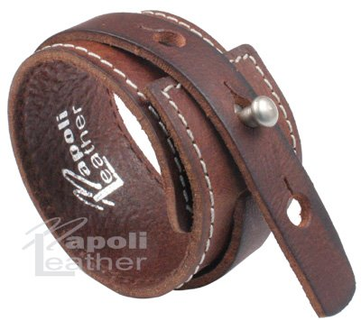 Distressed Vintage ITALIAN Leather Bracelet Unisex