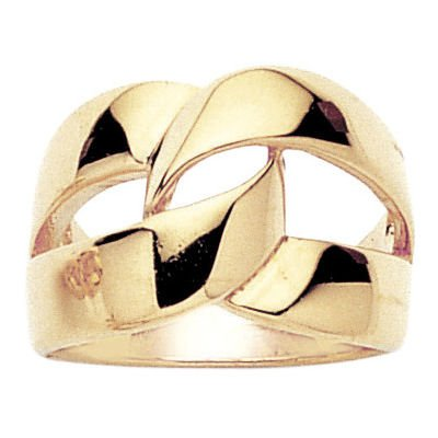 18K Gold Plated Creation Knot Band Ring - Size L