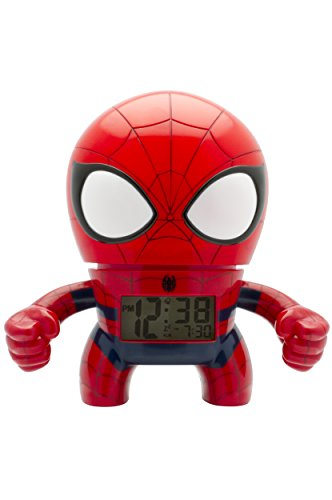 """BulbBotz """"Marvel Spider-Man"""" Plastic Clock, Red/Blue by BulbBotz"""