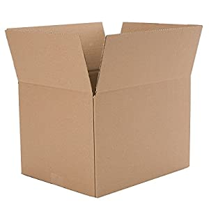 "Caremail Recycled Shipping Boxes, Small, 12"" x 12"" x 8"", Brown, 12-Pack (1143556)"