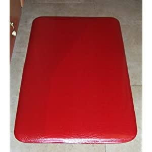 "The New 3rd Generation Gel-Mat© Anti-fatigue Kitchen Mats in Rich Red. Each Mat Is 20"" Wide By 36"" Long an 3/4"" thick, designed and tested by the Original Basket Weave Gel-Mat - 1st Generation©, to Reduce the unintended consequences of Gel mats with fancy covers."