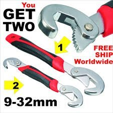 Snap N Grip set of 2 Wrench Multifunctional Wrench for plumbing tool kit