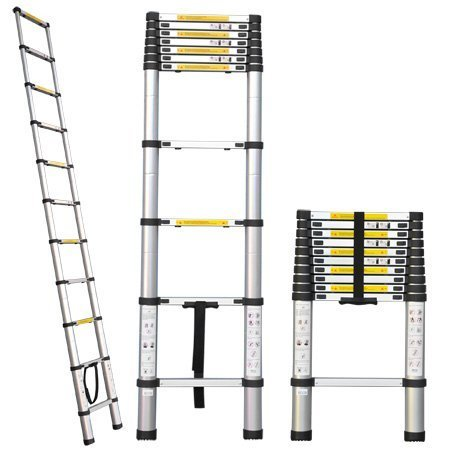 Aleko® Tl-10 Portable 10.5' Aluminum Telescoping Extension Ladder