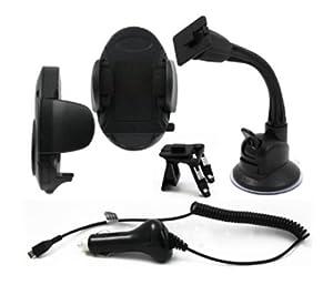 Muvit MUPAK0082 - Pack de accesorios para móvil (incluye soporte de coche, cargador de coche Micro USB) Muvit  Electrónica revisión y descripción más