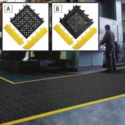 F.I.T. Anti-Fatigue Mat Tiles/Ergonomic Flooring - Black