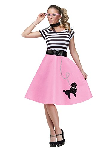 [Fun World  Women's 50's Poodle Dress - Medium/Large] (50s Costumes Women)
